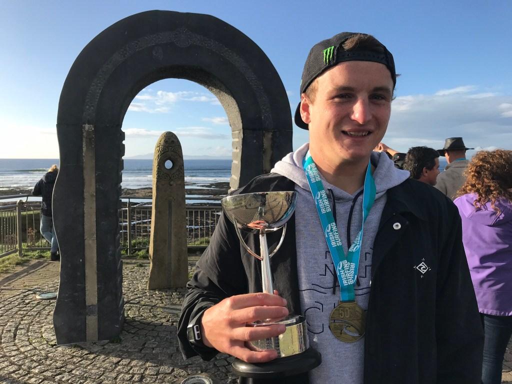 2017 Irish national surf champion Gearoid McDaid