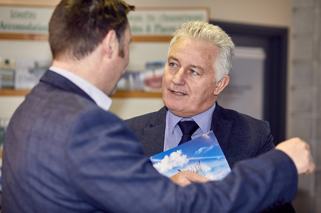 David Roche, Pramerica at launch of Donegal Connect at Donegal Airport on Friday