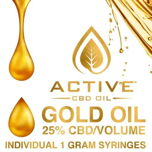 Active CBD Oil - Gold