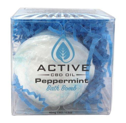 Active Bath Bomb Peppermint 40mg