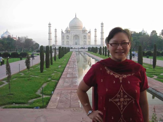 Jeannie at the Taj Mahal