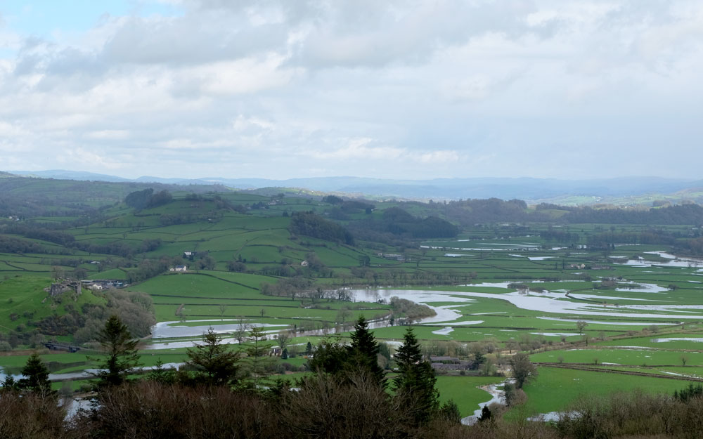 The Towy Valley from Paxton's Tower