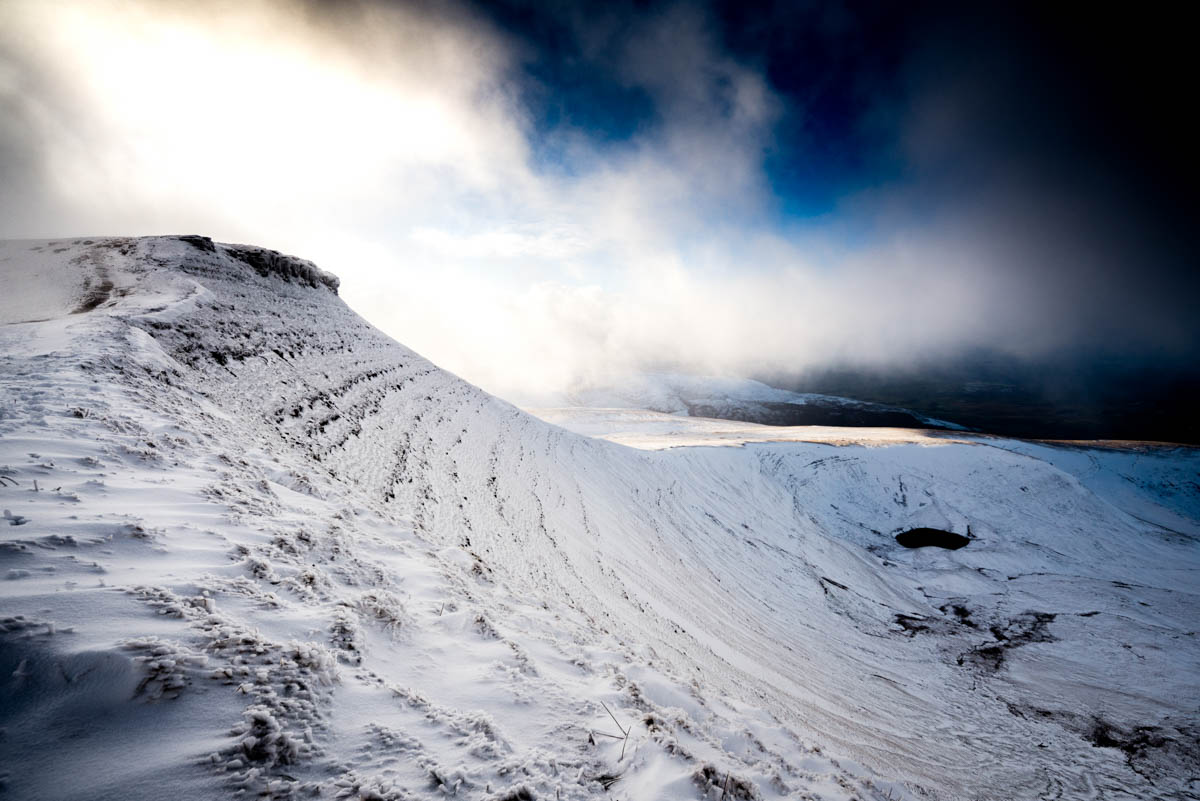 Corn Du in the snow, Brecon Beacons National Park