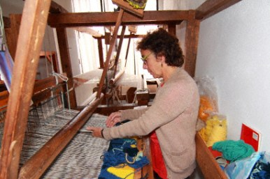 weaving class and loom
