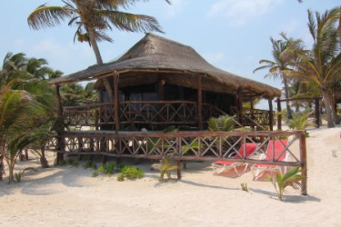 an upscale beach cabana