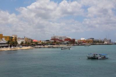 a view of the beachfront in San Miguel on Avienda Rafael Melgar