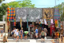 one of several shops around the entrance of Coba