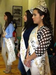 past and present festival beauty queens at the El Gato blues concert