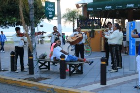 Here's the ever present Mariachi's entertaining some visitors