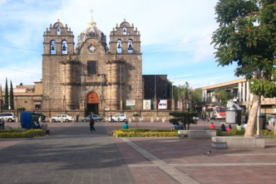 The Sanctuario de Guadalajara was built in 1781. The exterior architecture is Churrigueresque while the interior is Neoclassical