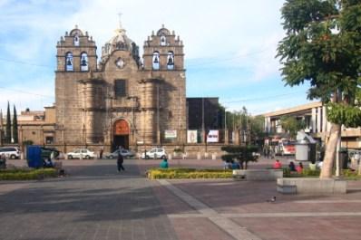 The Sanctuario de Guadalajara was built in 1781. The exterior architecture is Churrigueresque while the interior is Neoclassical