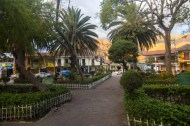 Vilcabamba's town square