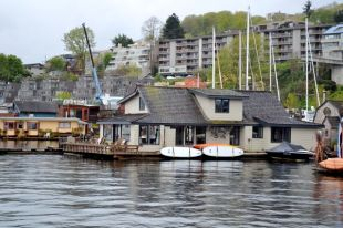 "Floating House from film ""Sleepless in Seattle""."