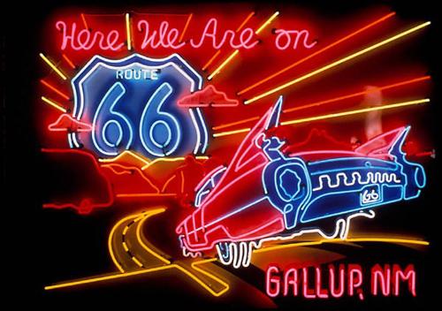 Route 66 Gallup Neon