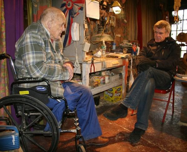 William Kent in his studio, interviewed by Peter Falk, Winter 2010