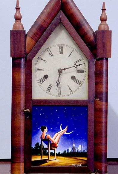 Third Dimension of Time (antique clock)