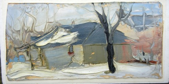 A Garage under Snow