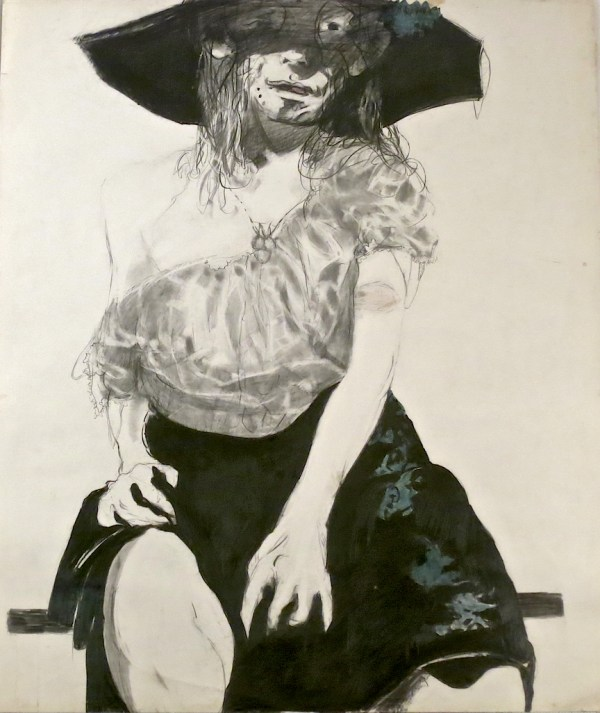 Portrait series: woman with broad hat