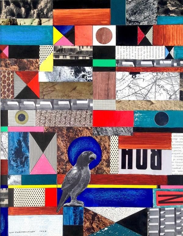 Untitled (Constructivist collage - Parrot)