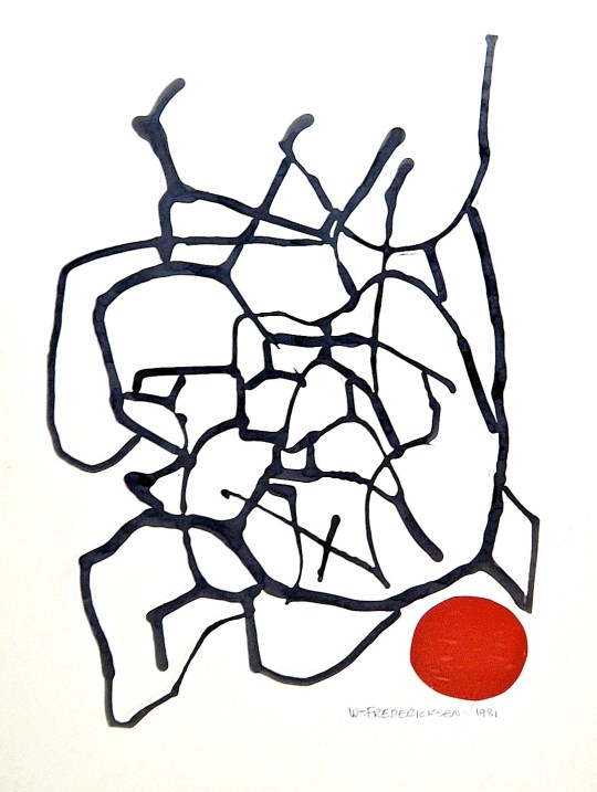 Untitled (Abstract composition, Red Spot)