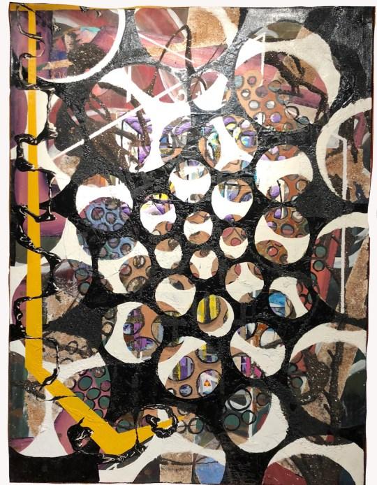 Black Skein, White Skein, Circles on Voyage Paintings