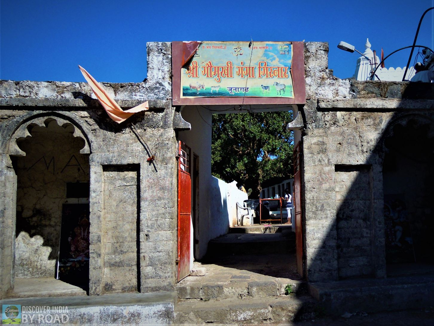 Goumukhi Ganga sign board during trek to girnar