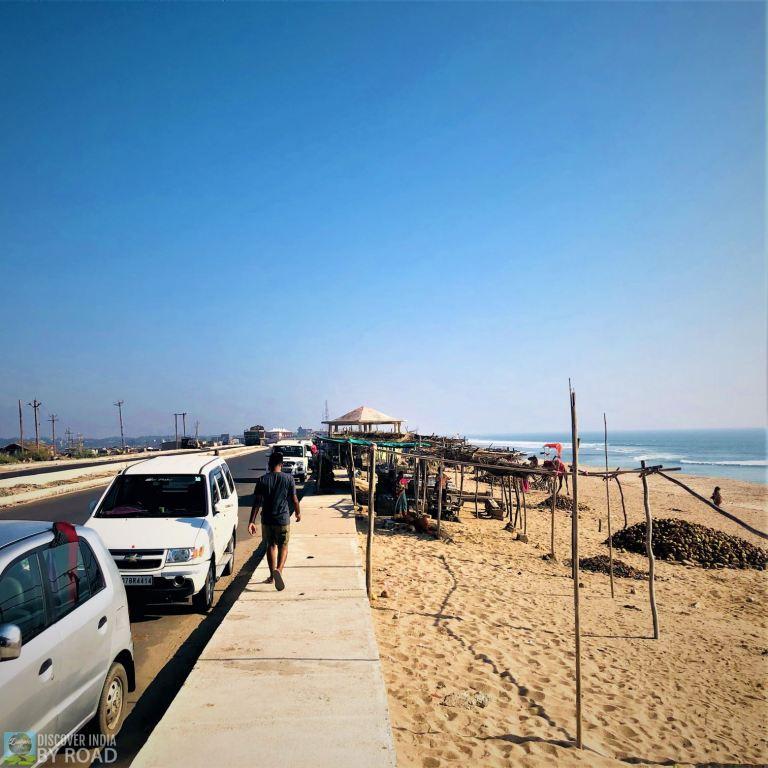 Madhavpura Beach Coastal road