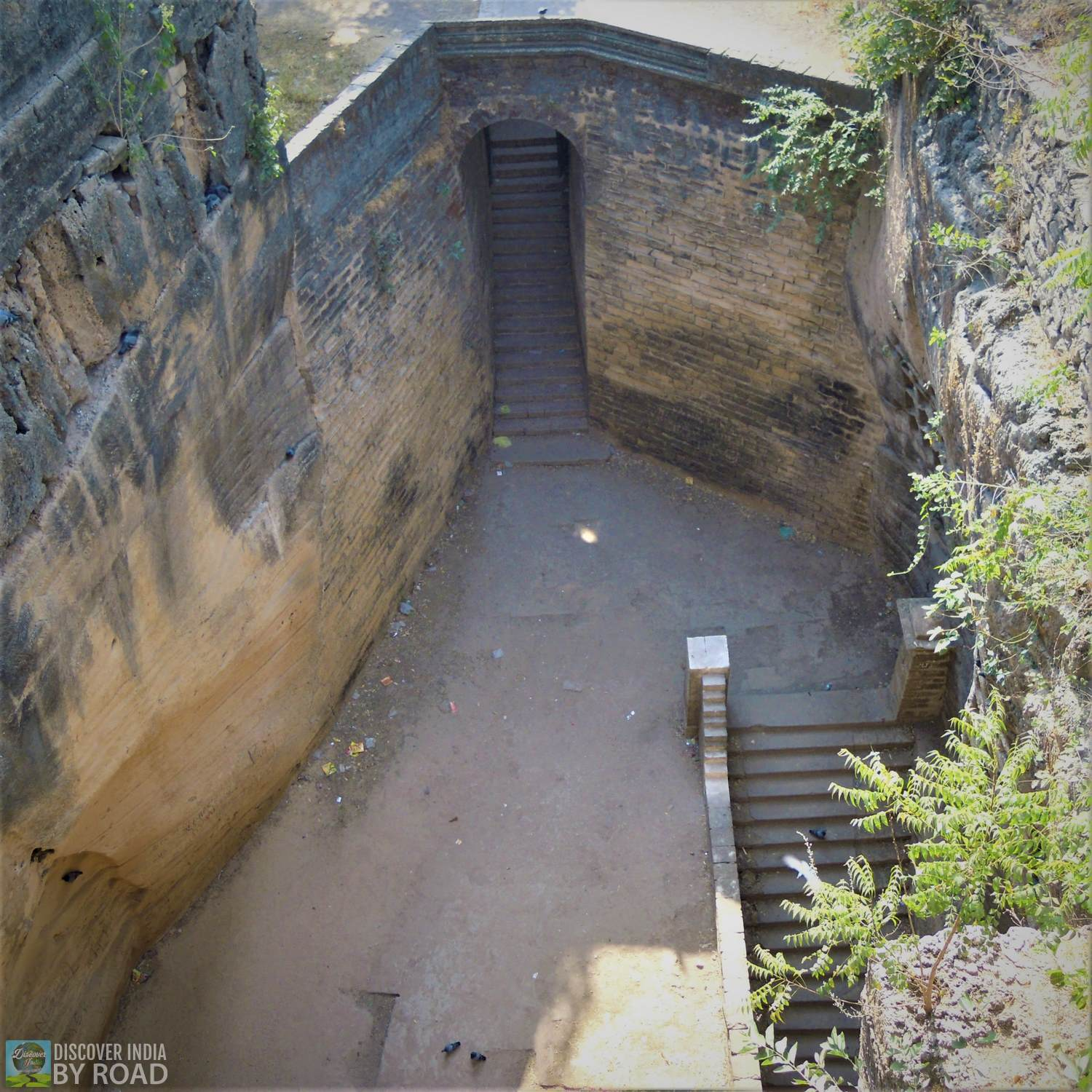 View of steps going below to Navghan kuvo