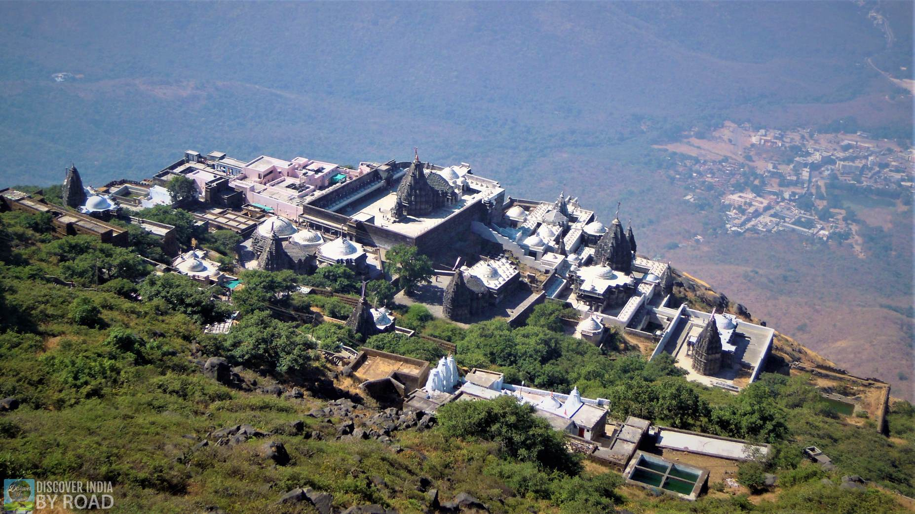 Aerial View of Neminath Jain mandir complex from Ambaji