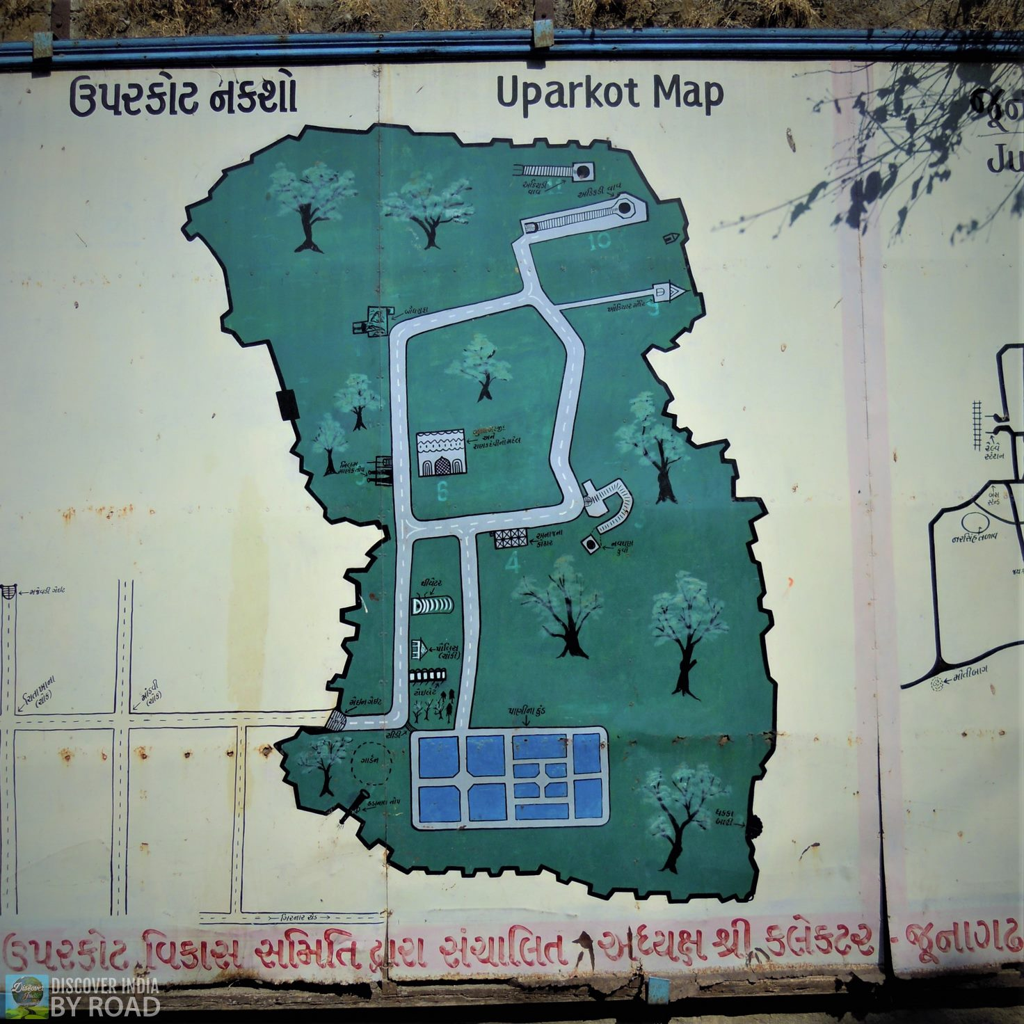 Uperkot fort Map for tourists