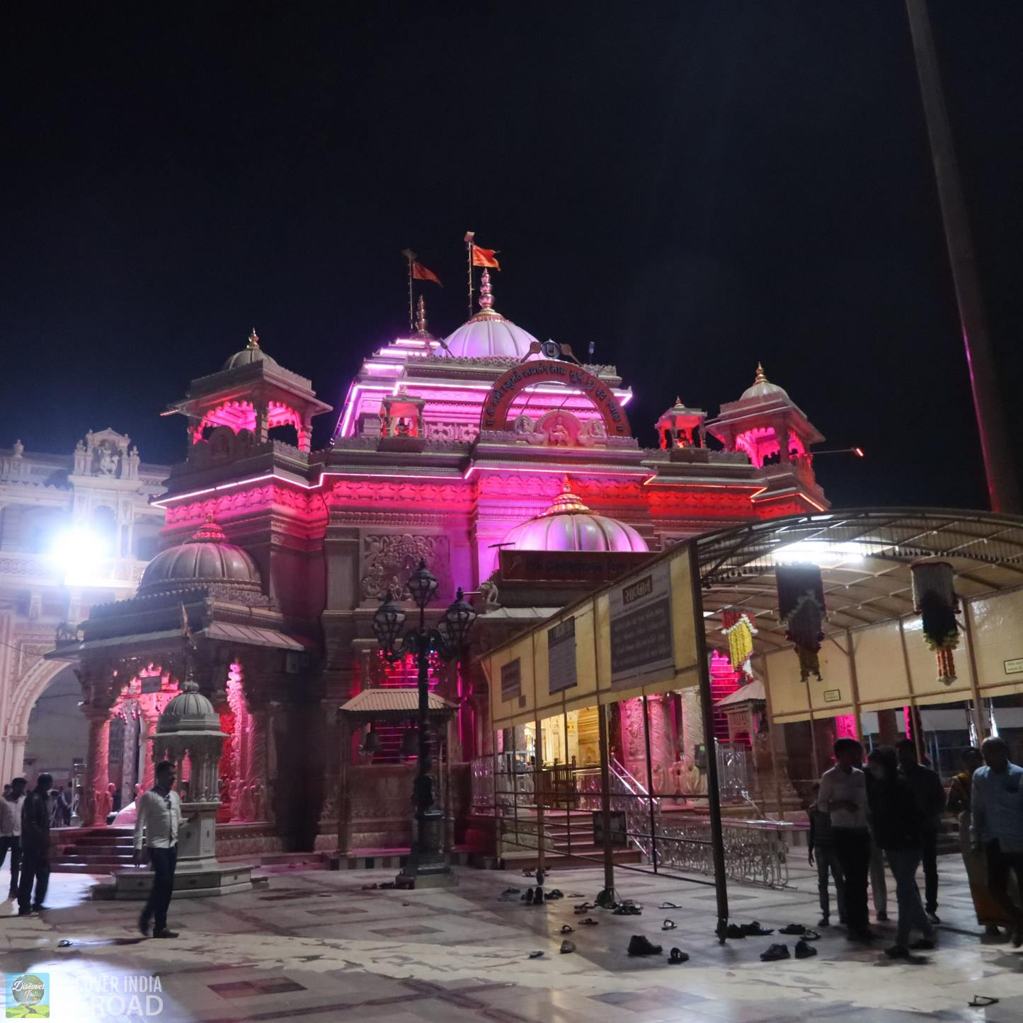 Night view of Sarangpur Main Temple