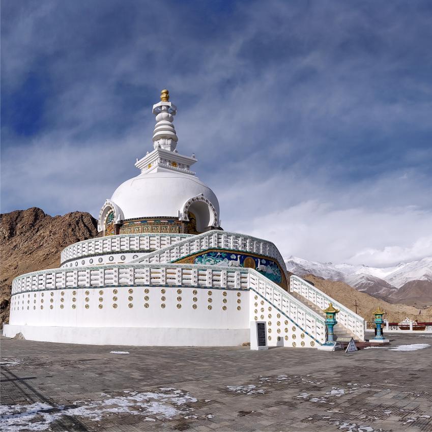 Shanti Stupa Leh Sightseeing