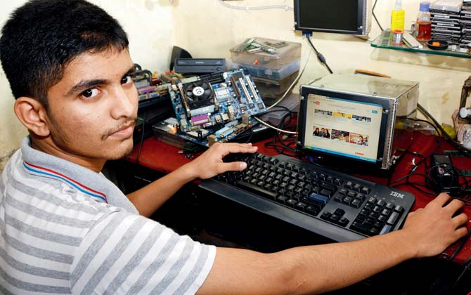 This genius class 9th dropout scrap dealer's son can turn scrap / leftover tech parts into a computer.