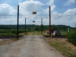 Railway crossing near Archennes