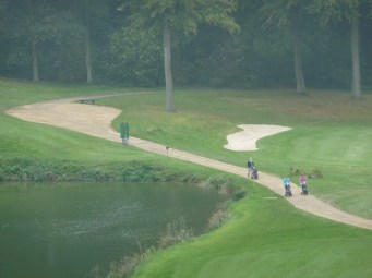 Golfers at Golf du Bercuit, Belgium