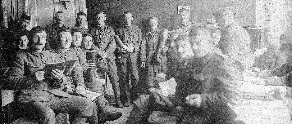 Soldiers relaxing in Talbot house