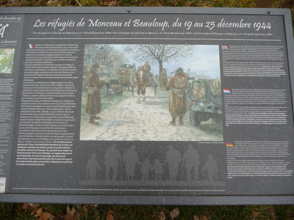 Info panel in Monceau