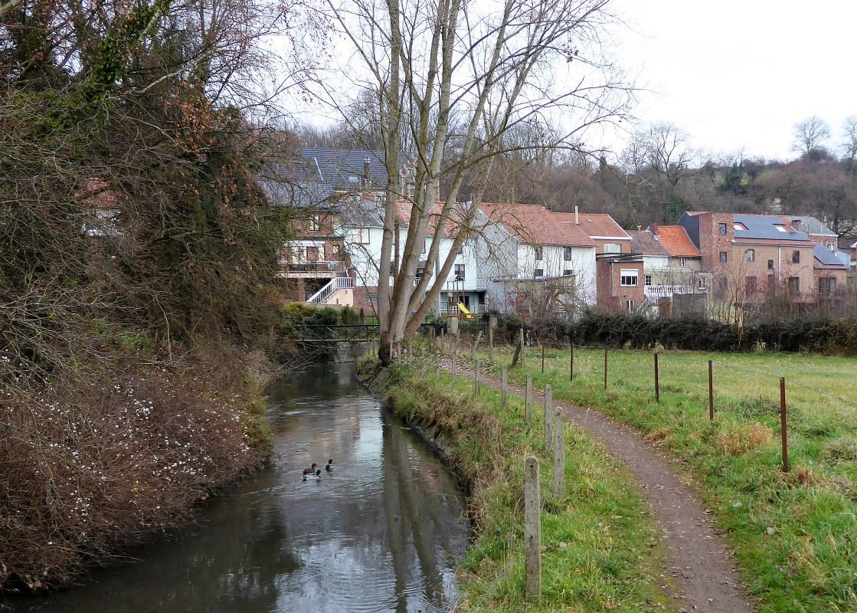 Walking around Wonck, Belgium