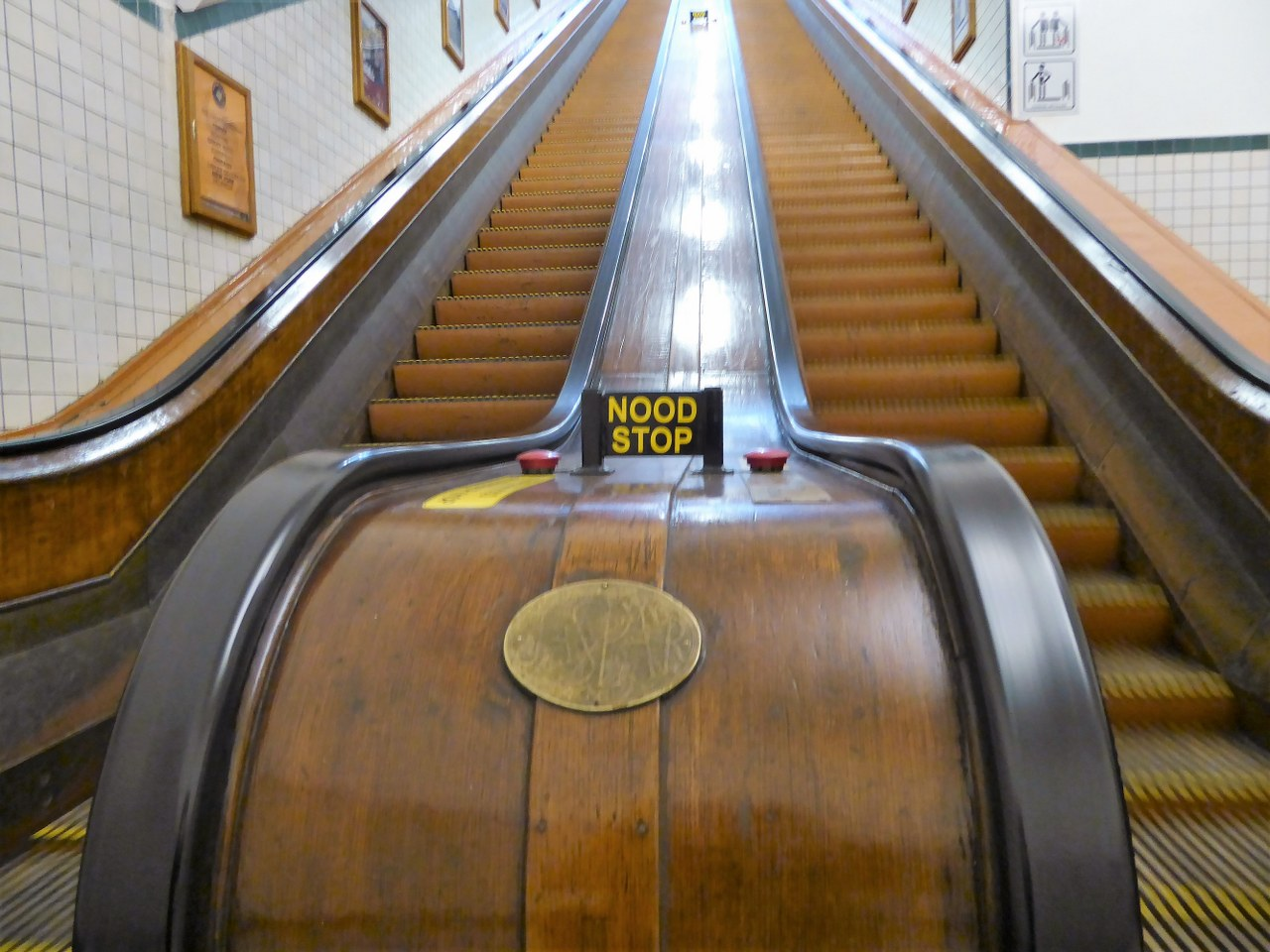 Wooden escalator