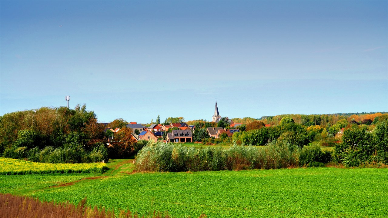 The village of Sint-Pieters-Rode in the Hageland