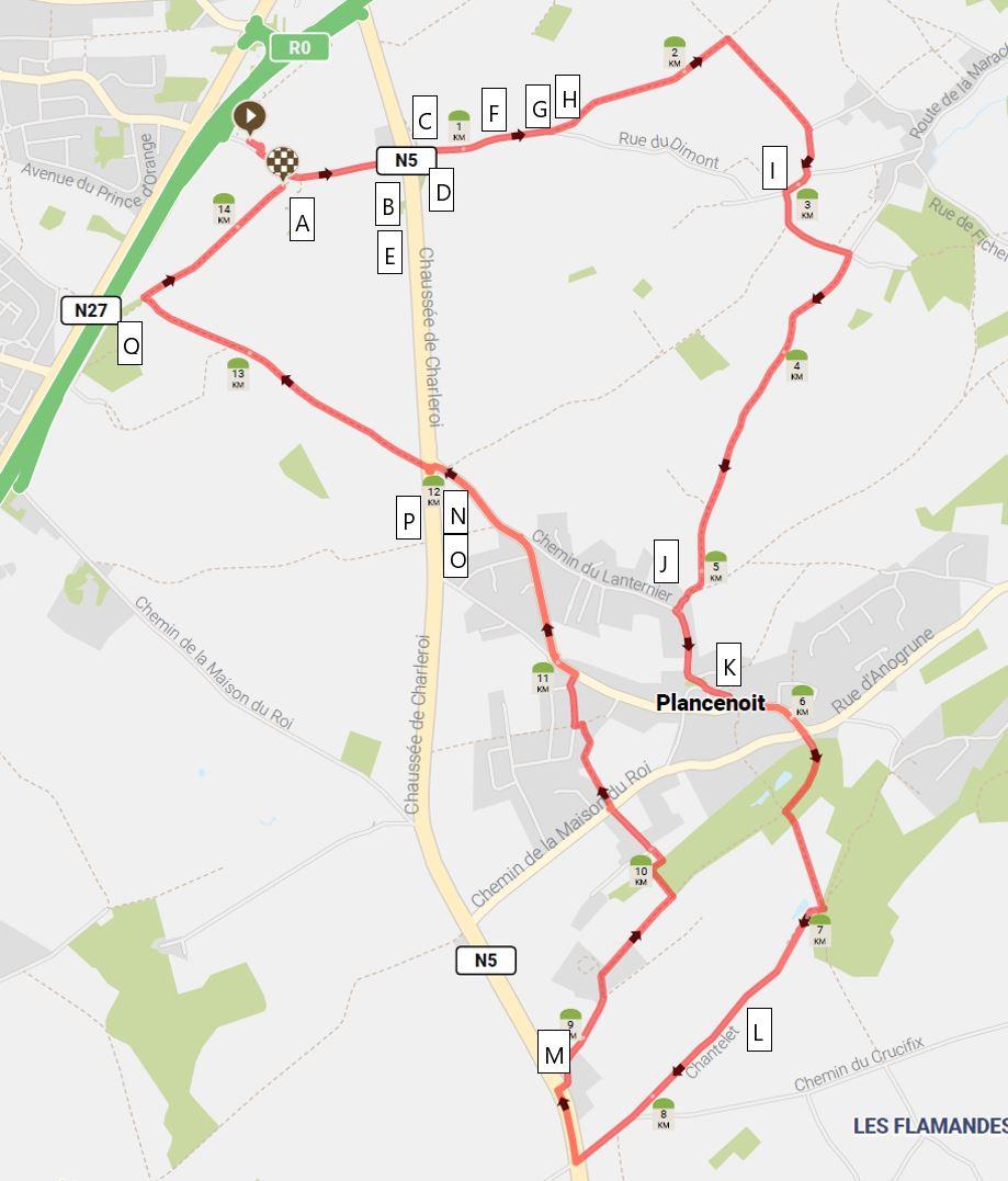 Walking map of Waterloo Battlefield