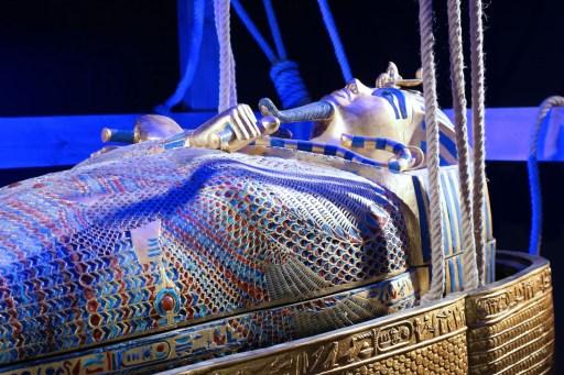 Tutankhamun exhibition in Liege Belgium