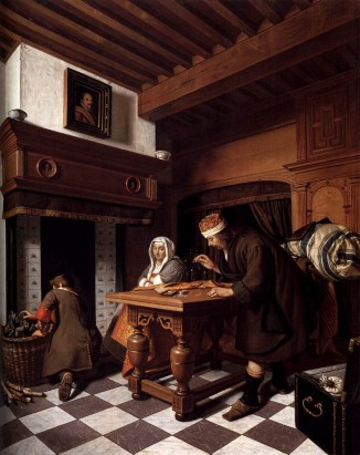 Cornelis de Man (Dutch, 1621- 1706) The Goldweigher ca. 1670 Oil on Canvas 81.5 x 67.5 cm Amsterdam (Netherlands)