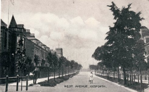 Discovering Heritage Post card West Avenue Gosforth