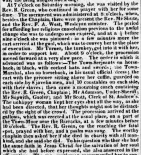 Twon Moor Execution newspaper exerpt