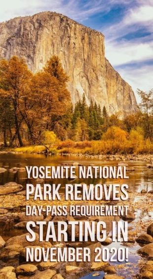 Yosemite National Park Requirement Changes