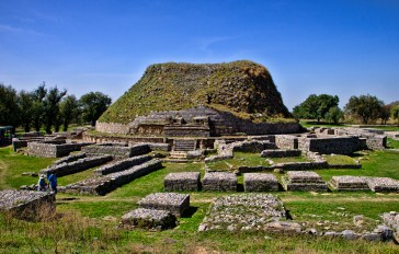 Dharmarajika Stupa, Taxila. This site, comprising of a stupa (venerated tomb) and monastic compound, is thought to have been established by the Mauryan Emperor Ashoka in the 3rd century BCE, around body relics of the Buddha.
