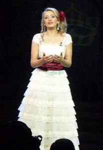 """Singing """"La Boheme"""" at the State pageant, 2009"""