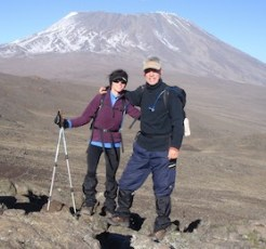 Laurie Hoer on Kilimanjaro with husband