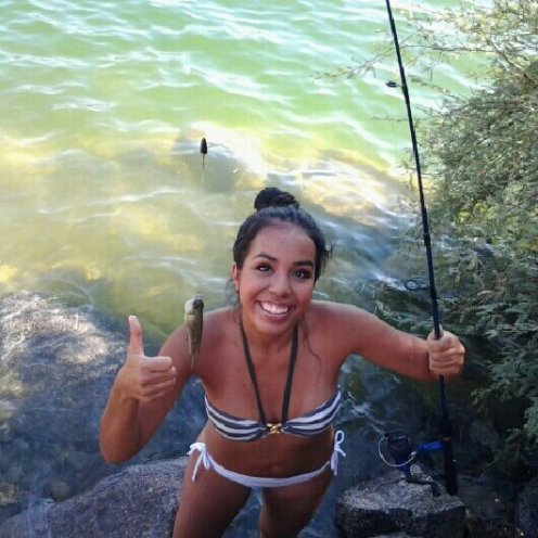 Catching my first fish! : )